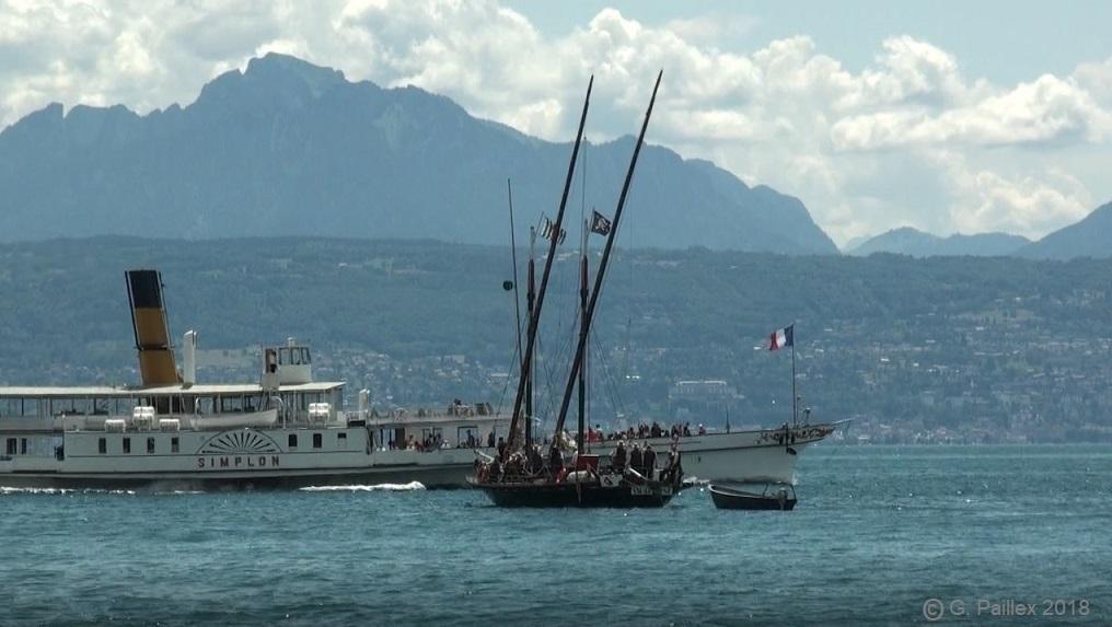 La Vaudoise sort du port d'Ouchy