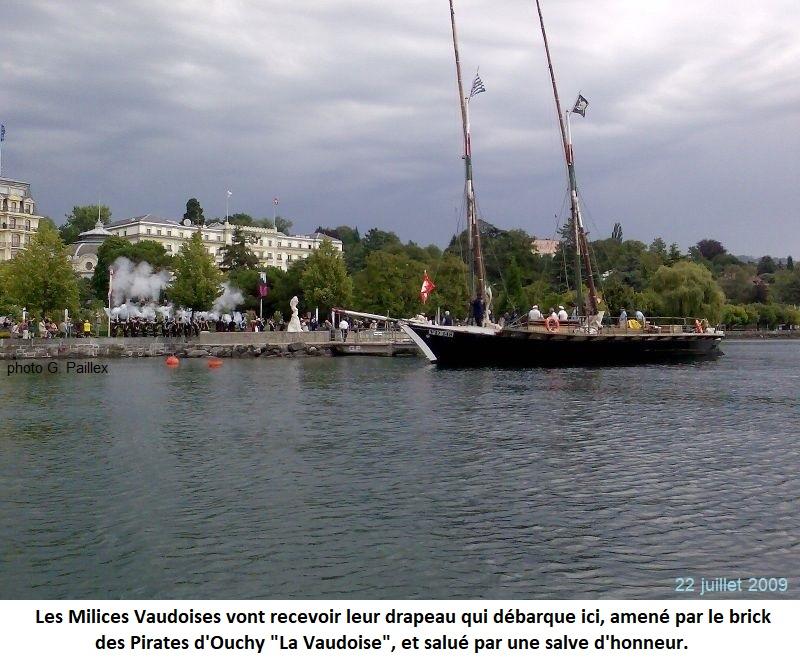 La Vaudoise a transporté et déposé les Milices Vaudoises